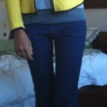 Jeans, H&M. Tee, Cos. Jacket, Zara. Ballets, Bloch