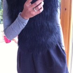 Furry vest with dress