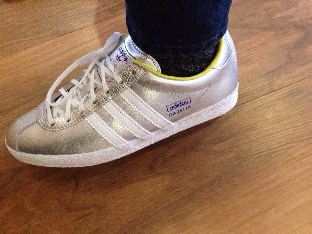 20140206 160920.jpg. Today my new silver Adidas Gazelles