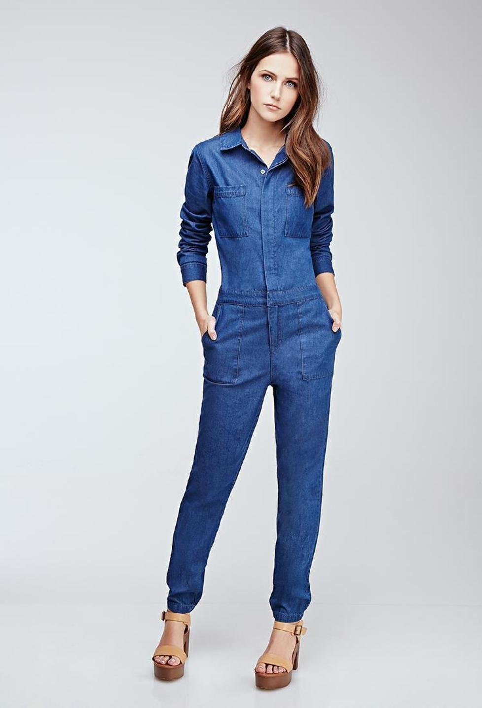 Denim Rompers And Jumpsuits